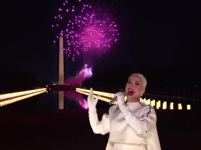 Con fuegos artificiales, Katy Perry cierra celebración de inauguración de Joe Biden