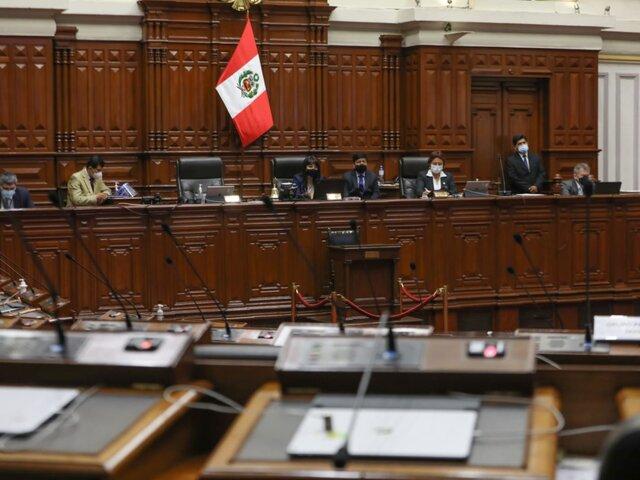 Pleno del Congreso sesionará hoy desde las 9 de la mañana
