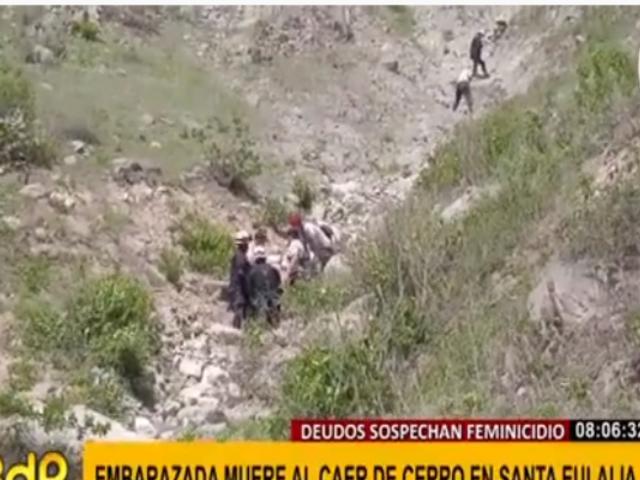 Acusan de asesinato a pareja de embarazada que murió tras caer de cerro en Santa Eulalia