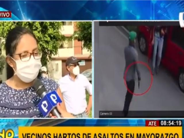 Ate: vecinos de Mayorazgo emplazan a municipalidad por desborde de inseguridad ciudadana
