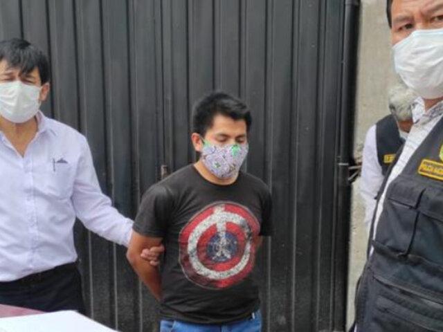 Arequipa: detienen a sujeto acusado de chantajear y ultrajar a menor de 15 años