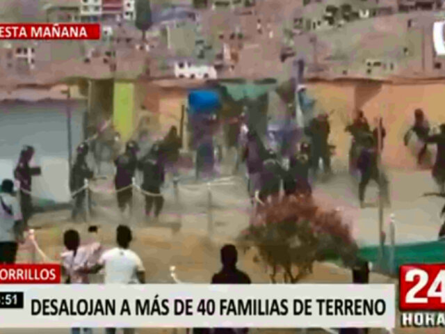 Chorrillos: desalojan a 41 familias de terreno que pertenece al Minsa