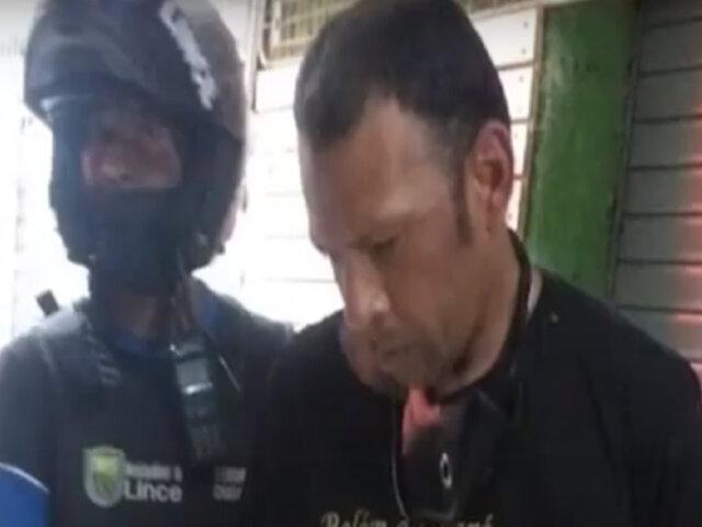 Lince: capturan a sujeto que trató de robar mercadería a comerciante