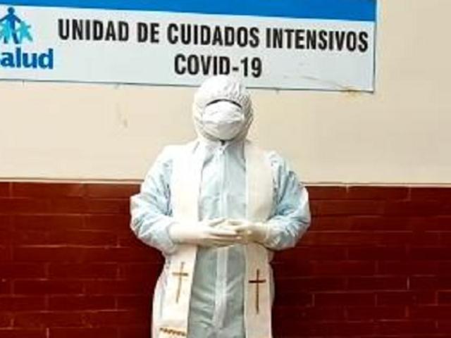Lambayeque: pacientes Covid-19 reciben sacramentos y apoyo espiritual