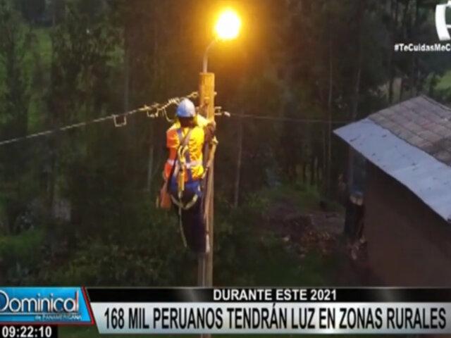 Minam: más de 168 mil peruanos tendrán luz en zonas rurales durante este 2021