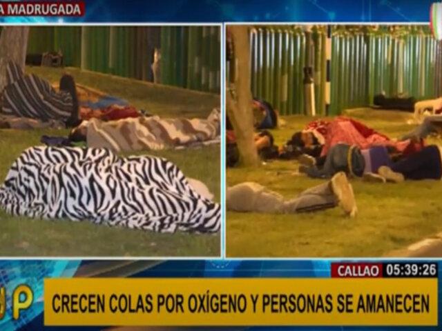 Callao: decenas de personas se amanecen haciendo colas para conseguir oxígeno