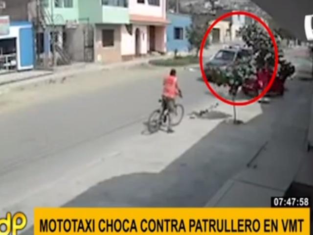 VMT: denuncian inacción de policías tras arrollar a mototaxi