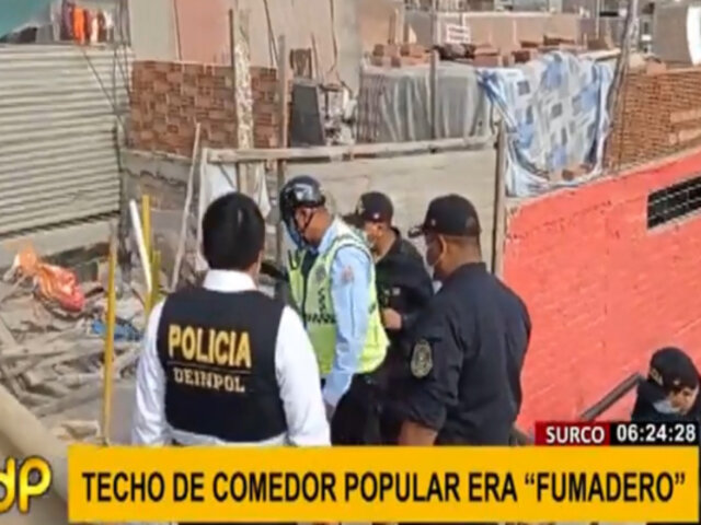 Surco: techo de comedor popular era utilizado como guarida de consumidores de droga