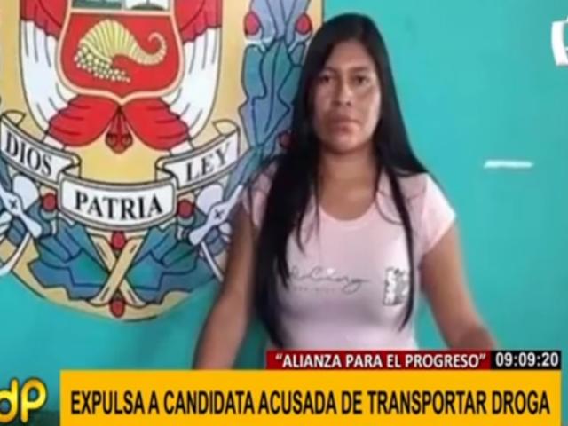 APP expulsó a candidata al Congreso acusada por trasladar droga