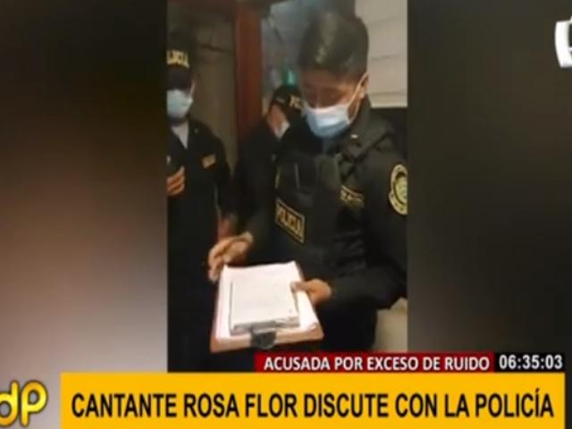 SJM: cantante criolla 'Rosa Flor' multada por reunión a todo volumen