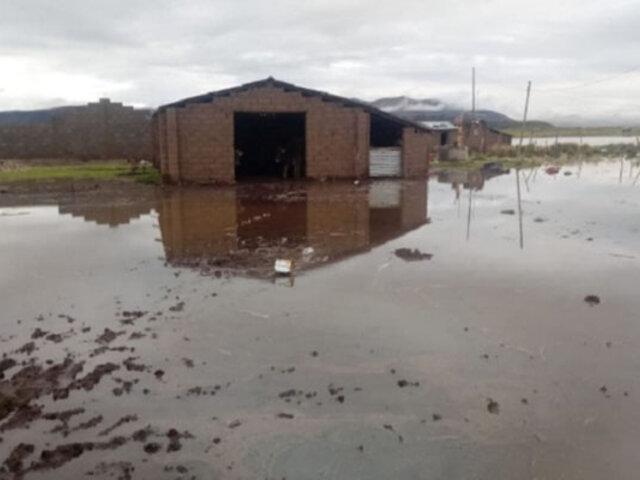 Viviendas, cultivos y caminos  resultaron afectados por desborde del  río Vilque en Puno
