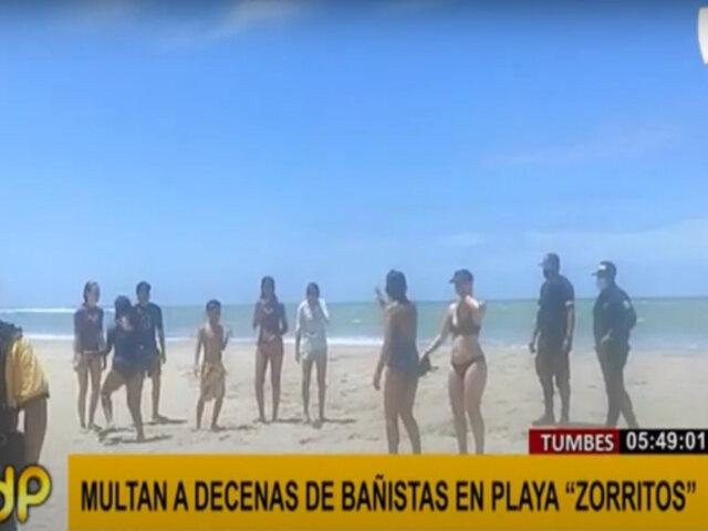 Tumbes: intervienen a decenas de bañistas en playa Zorritos