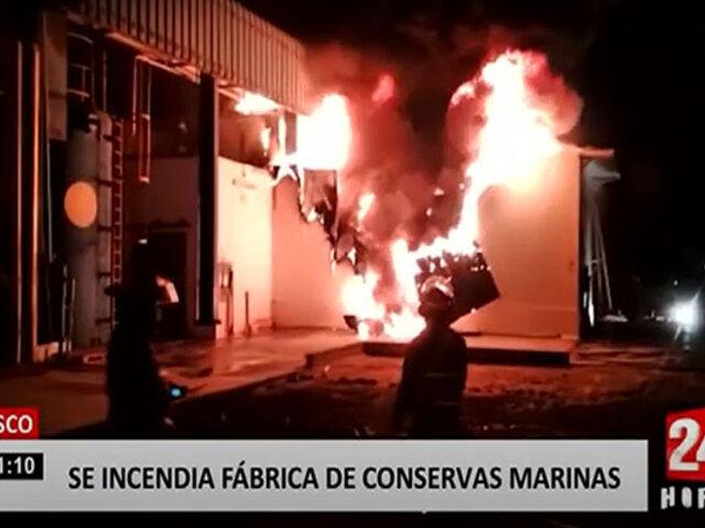 Paracas: incendio consume fábrica de conservas marinas