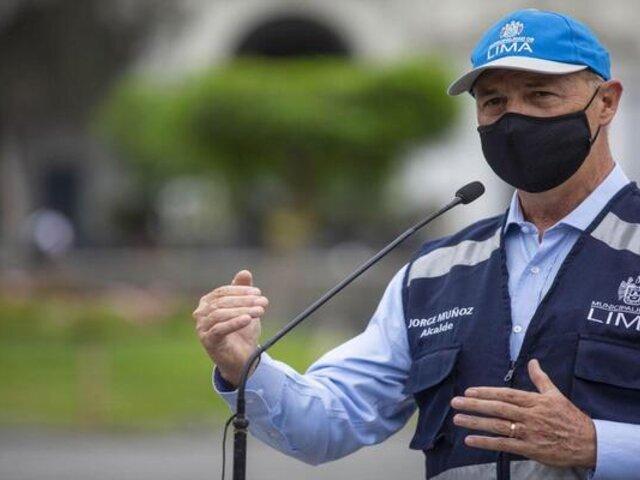 Jorge Muñoz considera que Lima Metropolitana debió ser incluida en lista de riesgo muy alto