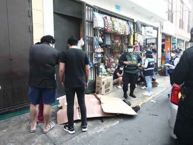 Mesa Redonda: adulto mayor perdió la vida en plena vía pública
