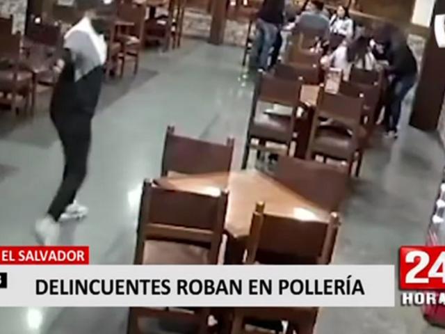 Villa El Salvador: delincuentes fingen ser clientes y roban en pollería
