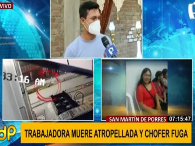 SMP: continúa prófugo conductor que atropelló y mató a trabajadora de limpieza