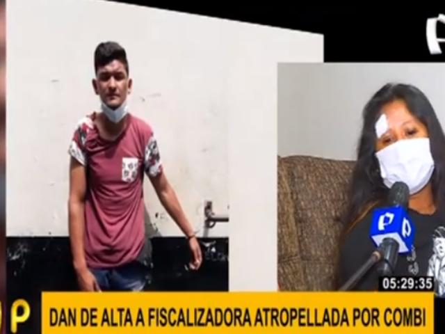 Fiscalizadora arrollada en El Agustino pide ayuda para ubicar a chofer prófugo