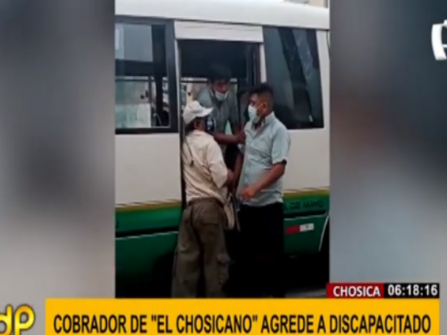 Indignación por cobrador del 'Chosicano' que fue grabado agrediendo a discapacitado