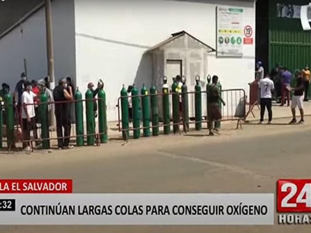 VES: decenas luchan por conseguir oxígeno para sus familiares