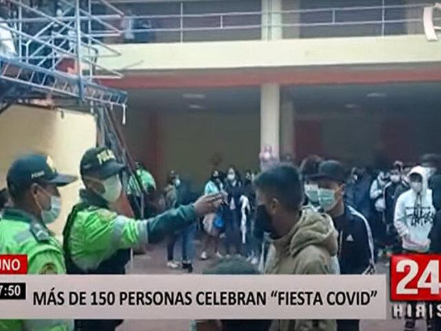 Juliaca: fiesta clandestina reúne a más de 150 personas, incluso a menores de edad