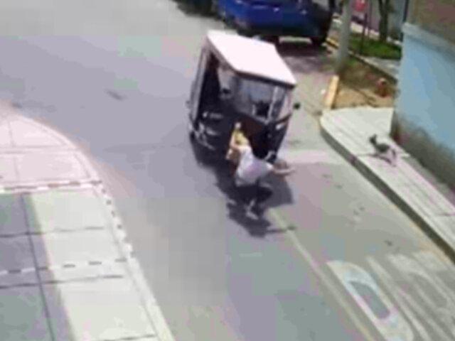 Policía fue brutalmente atropellada por un sujeto que minutos antes robó su mochila