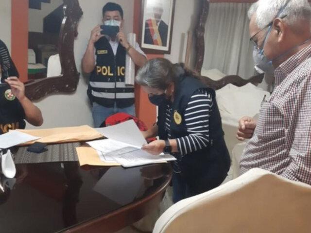 Lambayeque: Detienen a gobernador regional por presuntamente integrar organización criminal