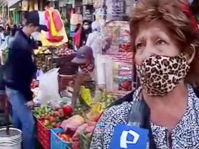 Comerciantes informales en Ciudad de Dios se pronuncian por nueva cuarentena