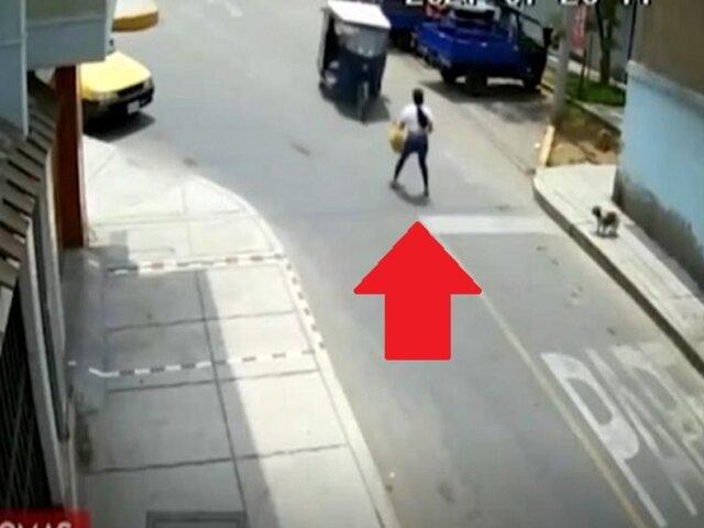 Hallan mototaxi que embistió a mujer policía en Comas