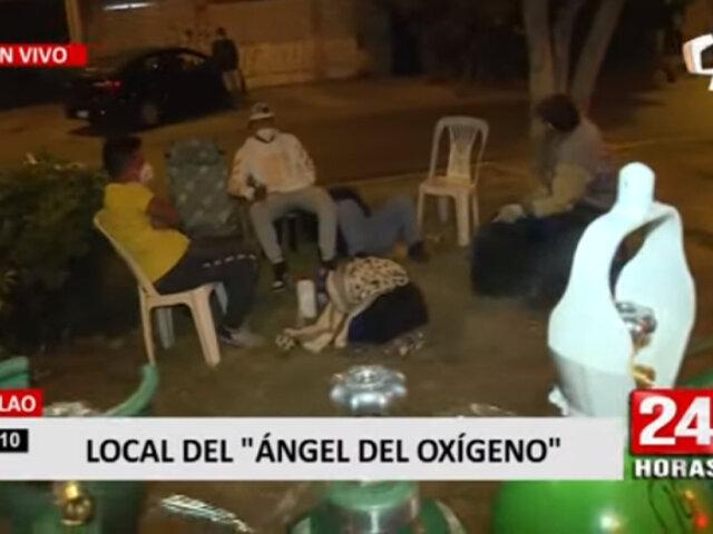 Callao: ciudadanos esperan abastecerse de oxígeno a pesar de toque de queda