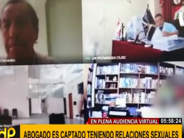 Junín: abogado fue descubierto teniendo relaciones en plena audiencia virtual