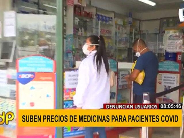 Denuncian aumento de precios en medicinas para pacientes COVID-19
