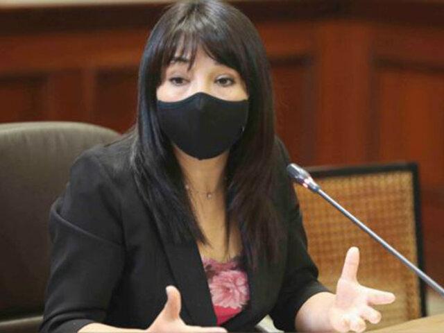 """Mirtha Vásquez: """"Vamos a defender el fuero parlamentario pero no desacatando los mandatos judiciales"""""""