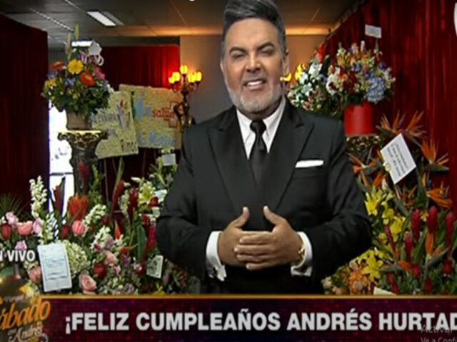 Andrés Hurtado celebra su cumpleaños regalando más que nunca en 'Porque hoy es Sábado con Andrés'