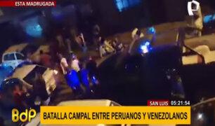 San Luis: al menos 4 heridos tras enfrentamiento entre ciudadanos peruanos y venezolanos