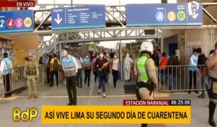Metropolitano: así se vive el segundo día de cuarentena en la estación Naranjal