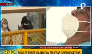 Solo se puede viajar con pruebas negativas en aeropuerto Jorge Chávez