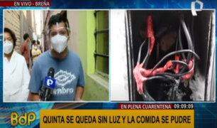 Breña: más de 10 familias afectadas por falta de energía eléctrica desde hace cuatro días