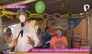 """D´Mañana: Alcalde Muñoz entregó víveres a madres de la olla común """"Todos salimos adelante"""""""