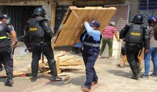 Municipio de El Agustino recupera calle tomada por comerciantes