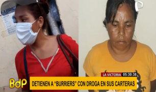 La Victoria: detienen a mujeres que trasladaban ladrillos con cocaína en cartera