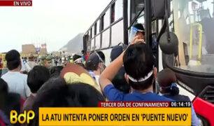 Puente Nuevo: pasajeros piden más buses ante reducción de aforo de vehículos