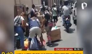 Cercado de Lima: ambulantes hacen lo que quieren pese a inmovilización social