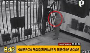 Magdalena: hombre con esquizofrenia anda con un cuchillo y causa pánico en vecinos