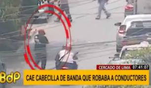 Cercado: cae cabecilla de banda que era terror de taxistas