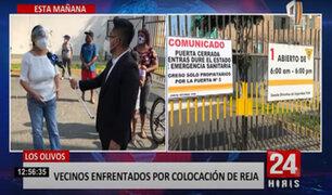 ¿Libre tránsito o seguridad?: vecinos se enfrentan por una reja en Los Olivos