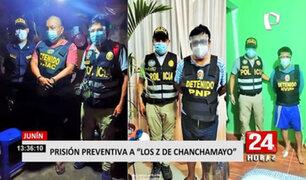 """Dictan 24 meses de prisión preventiva a integrantes de la banda """"Los Z de Chanchamayo"""""""