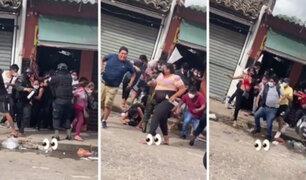 Covid-19: cientos de personas salen en estampida de local durante operativo policial