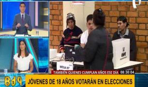 Reniec: jóvenes que cumplan 18 años hasta el día de las Elecciones Generales podrán votar