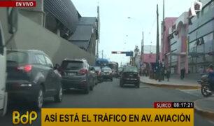 Surco: se registra gran cantidad de vehículos particulares en horas de la mañana